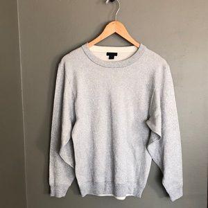 J Crew Sparkle Silver Sweater